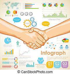 チャート, ビジネス, infographics