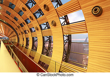 チャールズ, 壁, de, ターミナル, 1(人・つ), 窓, 空港, gaulle, パリ, フランス