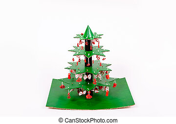 チューブ, 小片, 指示, 層, 私達, タオル, 他, 作りなさい, 使うこと, クリスマスペーパー, 飾られる, ボール紙, いかに, のり, ステップ, 木。, 立ちなさい, それぞれ, 星, パスタ, 連結しなさい