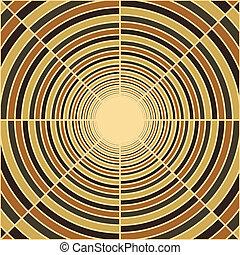 チューブ, 端, トンネル, ライト, 抽象的, 海原