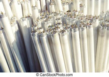 チューブ, 電灯, 小片, ごみ, 蛍光