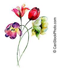 チューリップ, 美しい, 花