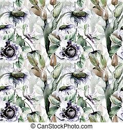 チューリップ, 花, 壁紙, seamless, camomile
