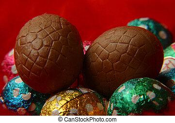 チョコレート, イースター, eggs.