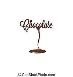 チョコレート, 隔離された, 印