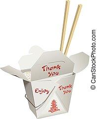 チョップ, take-out, はり付く, 中国語