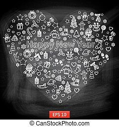 チョーク板, 新年おめでとう
