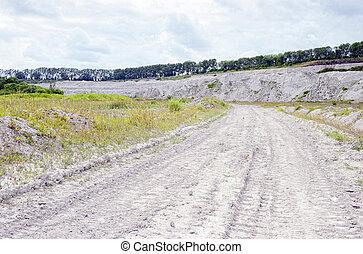 チョーク, 光景, 私の, 採石場, 岩