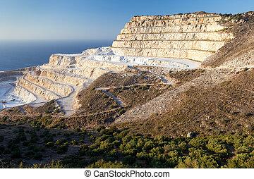 チョーク, 島, 採石場, crete