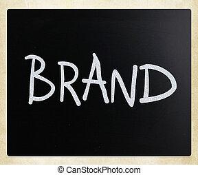 """チョーク, 手書き, """"brand"""", 黒板, 白"""