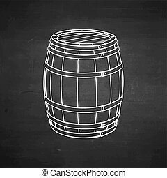 チョーク, 木製である, スケッチ, barrel.