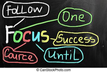 """チョーク, 黒板, 白, 手書き, """"focus"""""""
