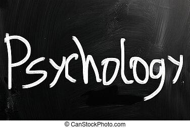 チョーク, 黒板, 白, 手書き, 'psychology'