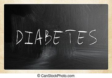 """チョーク, 黒板, 白, """"diabetes"""", 手書き"""