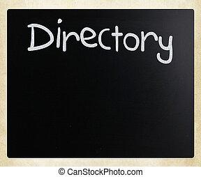 """チョーク, 黒板, 白, """"directory"""", 手書き"""