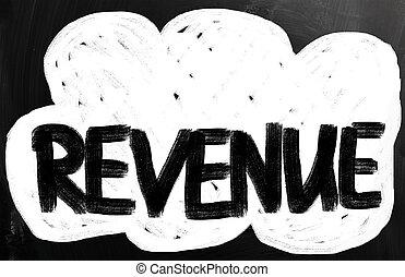 """チョーク, 黒板, 白, """"revenue"""", 手書き"""