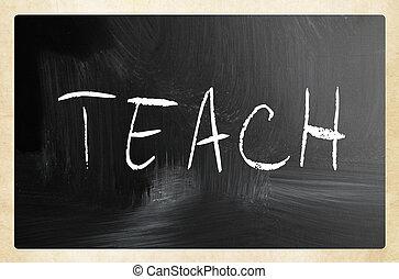 """チョーク, 黒板, 白, """"teach"""", 手書き"""