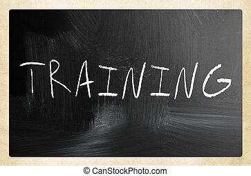 """チョーク, 黒板, 白, """"training"""", 手書き"""