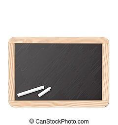 チョーク, 黒板