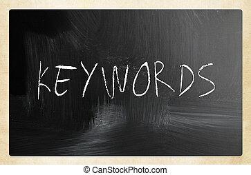 """チョーク, 黒板, """"keywords"""", 白, 手書き"""