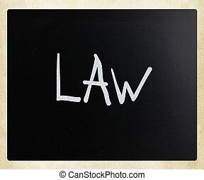 """チョーク, """"law"""", 手書き, 黒板, 白"""