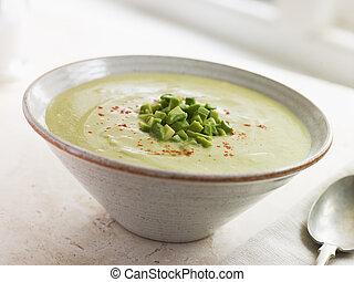 チリ, 冷えた, アボカド, cumin, スープ
