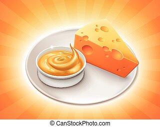 チーズソース, チェダー