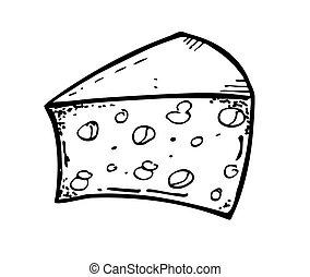 チーズ, いたずら書き
