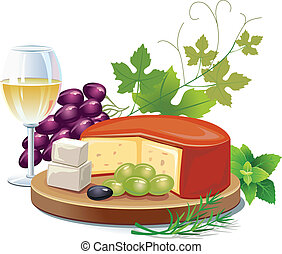 チーズ, そして, 白ワイン