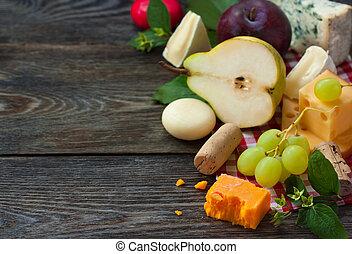 チーズ, そして, fruit.