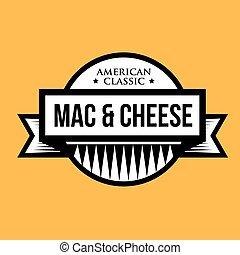 チーズ, クラシック, 切手, 型, -, mac, アメリカ人, マカロニ