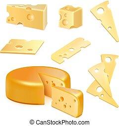 チーズ, セット, 現実的
