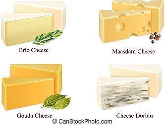 チーズ, セット, 種類