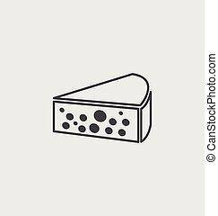 チーズ, 小片, アイコン