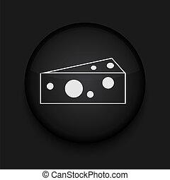 チーズ, 編集, eps10., ベクトル, 容易である, icon.