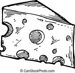チーズ, sketchy, スライス