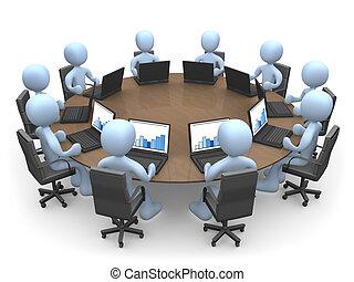 チームのミーティング