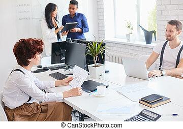 チームワーク, オフィス, ビジネス, インターナショナル