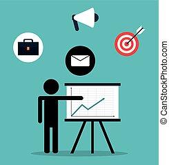 チームワーク, サポート, デザイン, pictogram