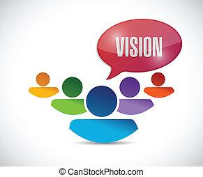 チームワーク, デザイン, ビジョン, イラスト