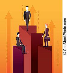 チームワーク, ビジネスマン, 成功