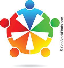 チームワーク, 人々, ベクトル, ビジネス