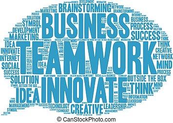 チームワーク, 単語, 雲