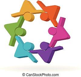 チームワーク, 友情, ロゴ
