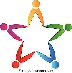チームワーク, 星, ロゴ