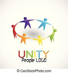 チームワーク, 統一, ベクトル, 人々