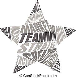 チームワーク, 言葉, 星, 意味