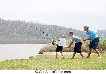 チームワーク, 釣り