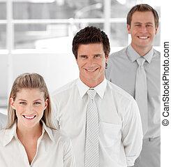 チーム, ビジネス, 提示, positivity, 精神, 表現