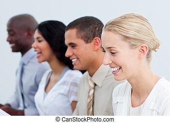 チーム, プレゼンテーション, ビジネス, 仕事, 多民族